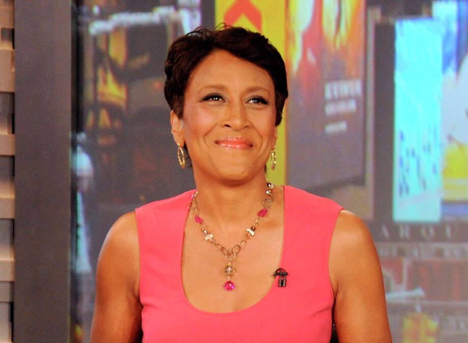 "FILE - This Aug. 20, 2012 file photo released by ABC shows co-host Robin Roberts during a broadcast of ""Good Morning America,"" in New York. Roberts has thanked her viewers for their support as she faces a bone marrow transplant. The ""Good Morning America"" co-anchor sent a video message taped from her New York hospital bed for airing on the program Thursday, Sept. 20, which is the day she's set to have the transplant. (AP Photo/ABC, Donna Svennevik, file) Photo: Donna Svennevik"