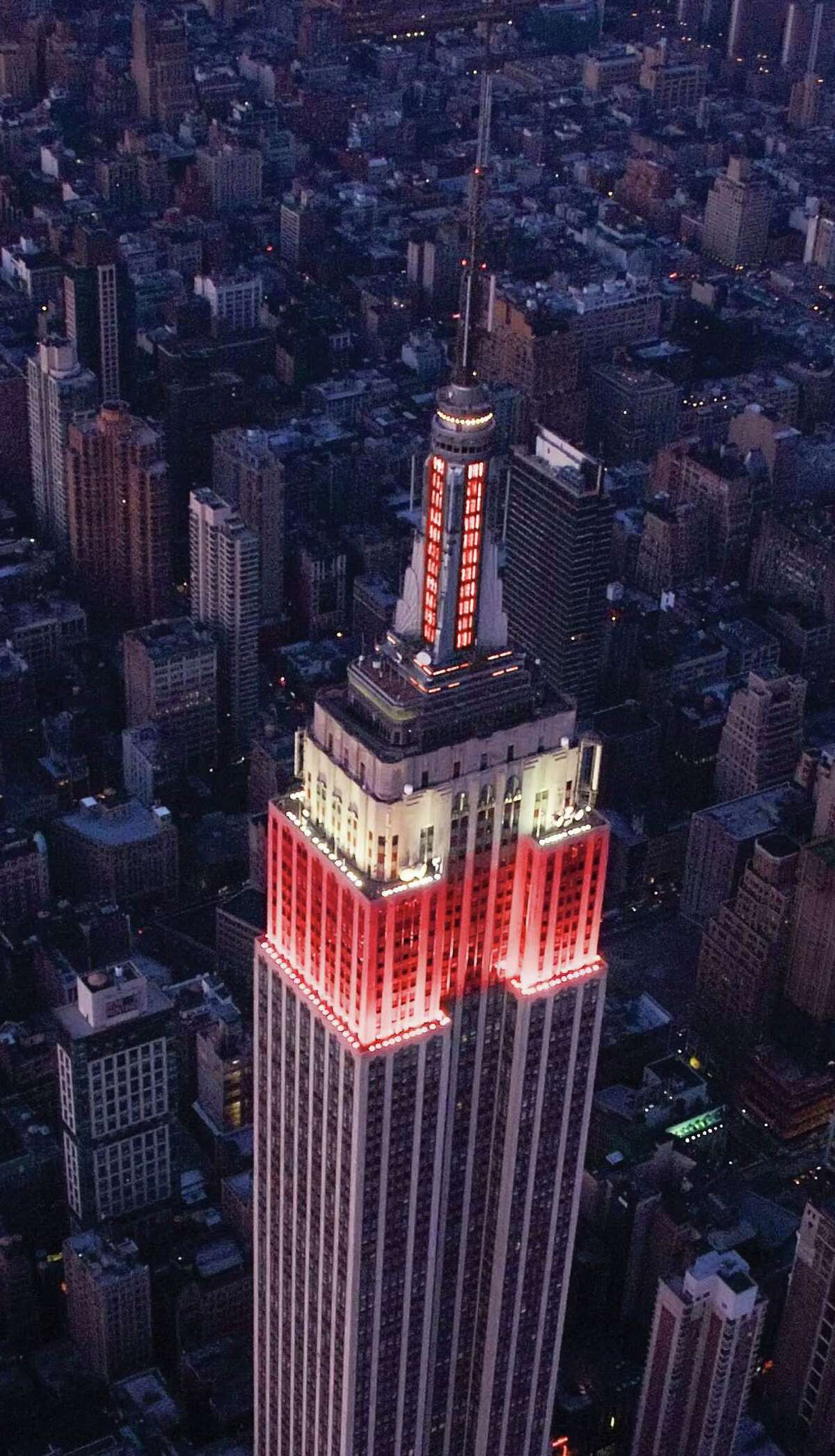 """The Empire State Building is set to get """"Where's Waldo?"""" stripes on Friday, Sept. 21, 2012."""