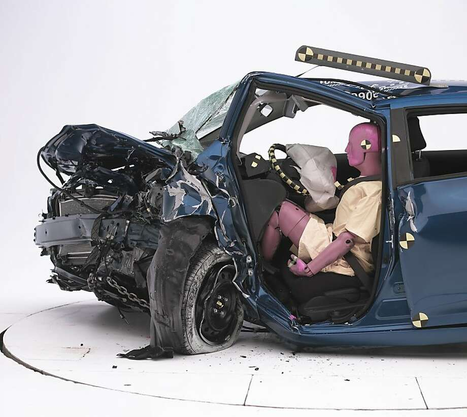 The Toyota Yaris has the most injuries per crash of any vehicle, a study says. Photo: Iihs, AP