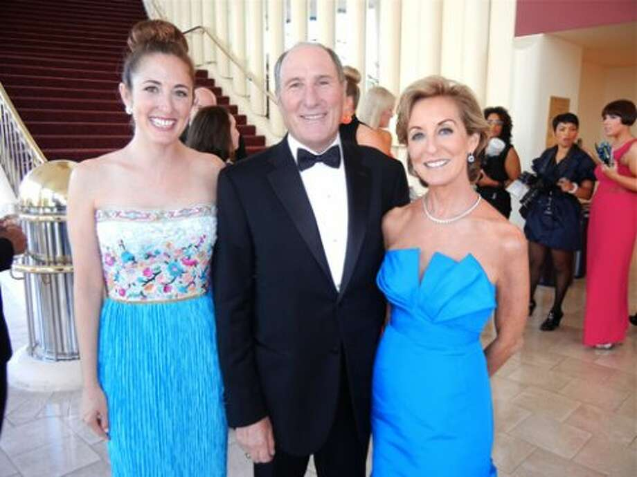 Jessica Goldman Foung (in her mom's vintage Mary McFadden) with her folks, Symphony President John Goldman and his wife, Marcia Goldman (in Oscar de la Renta) (Catherine Bigelow)