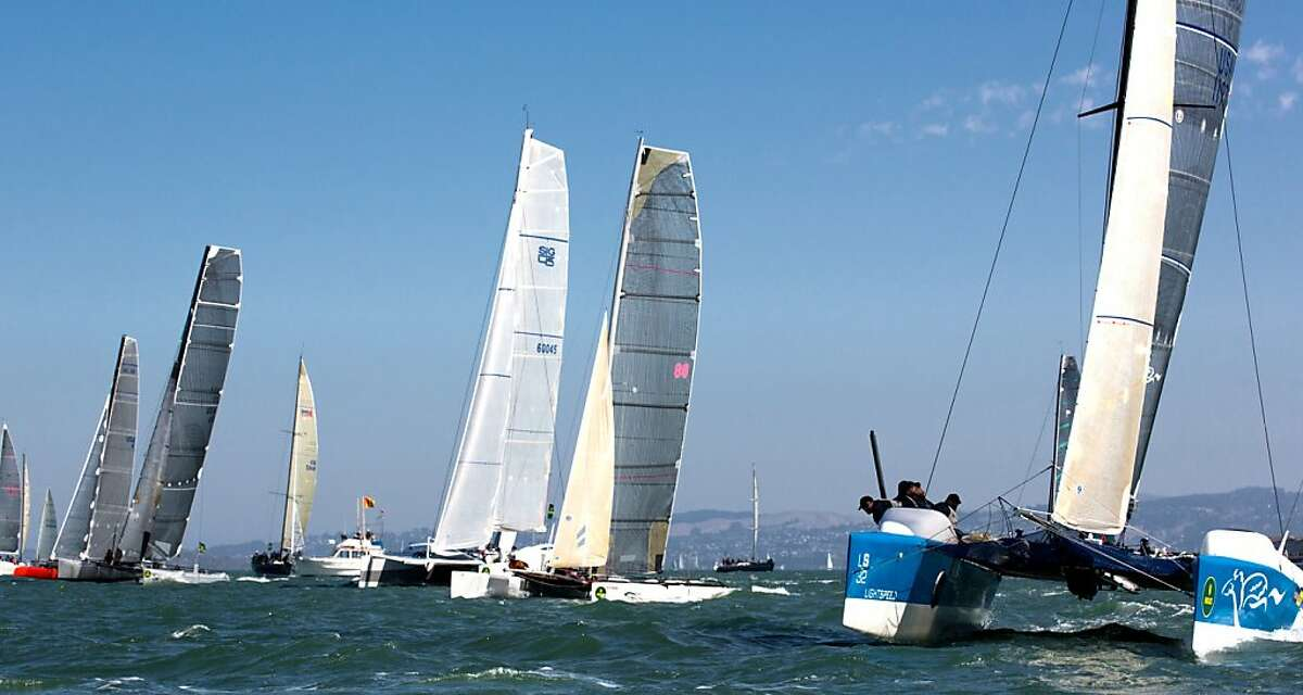 The new multihull division gets off the start line.