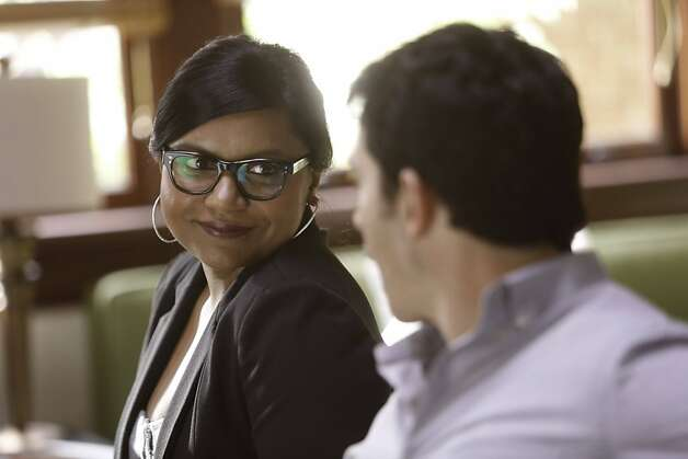 "Mindy (Mindy Kaling) and Danny (Chris Messina) trade barbs on ""The Mindy Project."" Photo: Jordin Althaus, FOX"