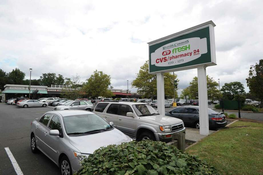 Riverside Commons shopping center, Thursday, Sept. 20, 2012. Town officials say the owners of Riverside Commons have not cleaned up all of the sewage that entered a brook Aug. 23 and ultimately wound up in Binney Pond in Old Greenwich. The initial problem occurred after work was done at the A&P Fresh grocery store and sewage overflowed. Photo: Bob Luckey / Greenwich Time