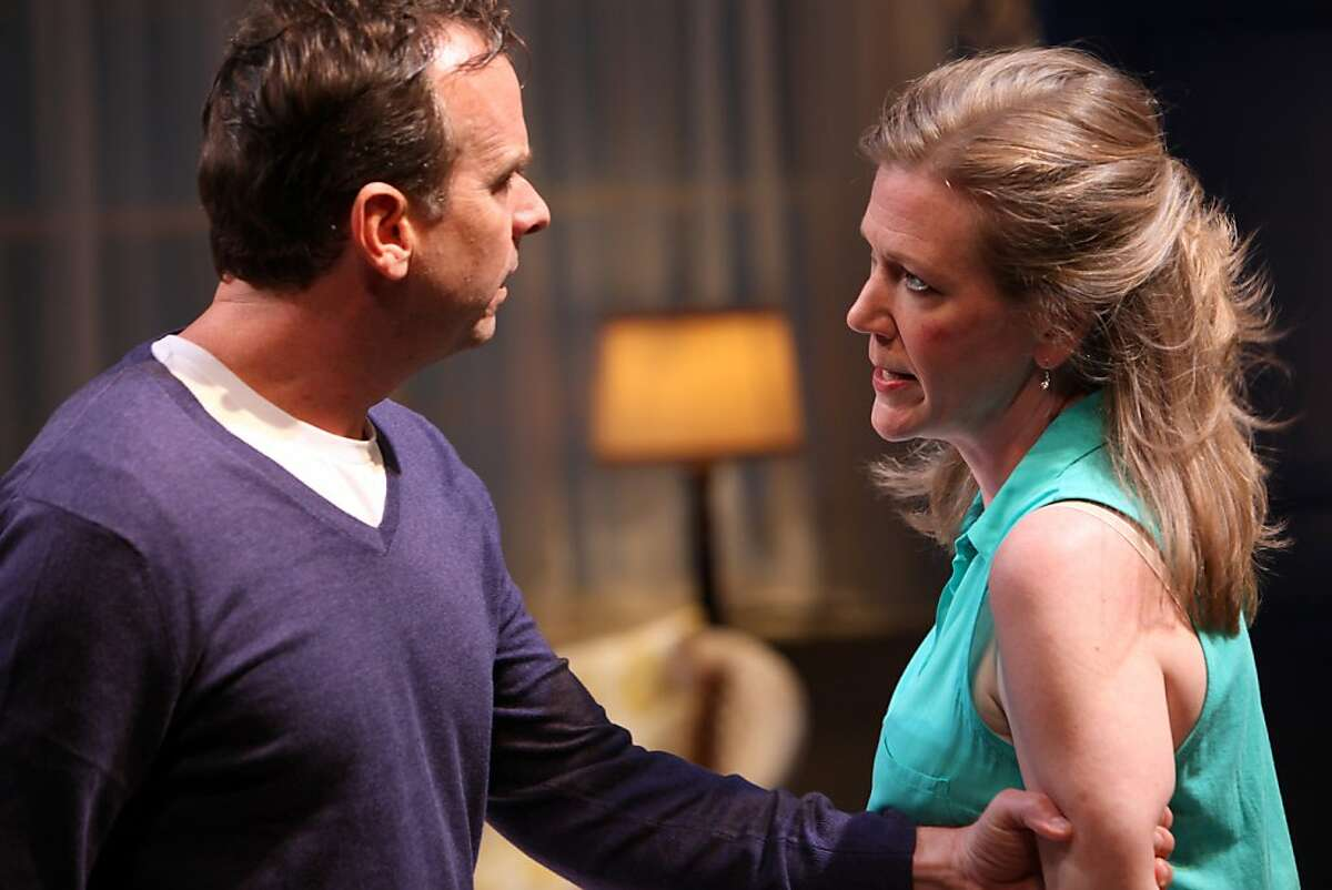 """Juliana (Henny Russell, right) and Ian (Donald Sage Mackay) try to sort out a 10-year-old personal mystery in Sharr White's """"The Other Place"""" at Magic Theatre"""