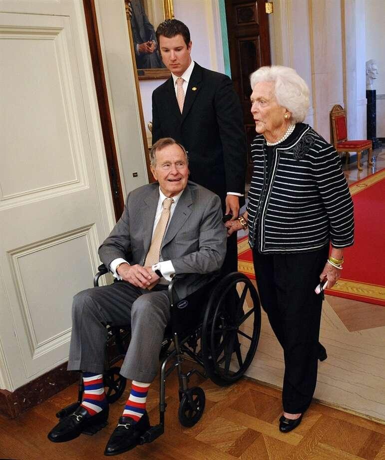 President Bush 41 and Barbara Bush.