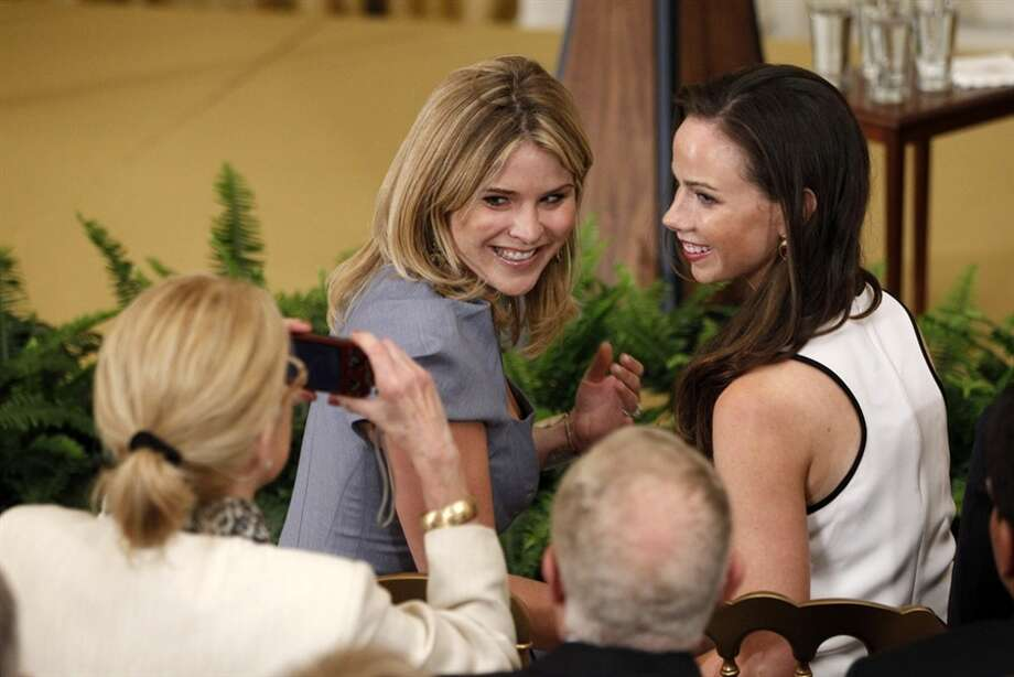 First daughters Jenna Bush Hager and Barbara Bush.