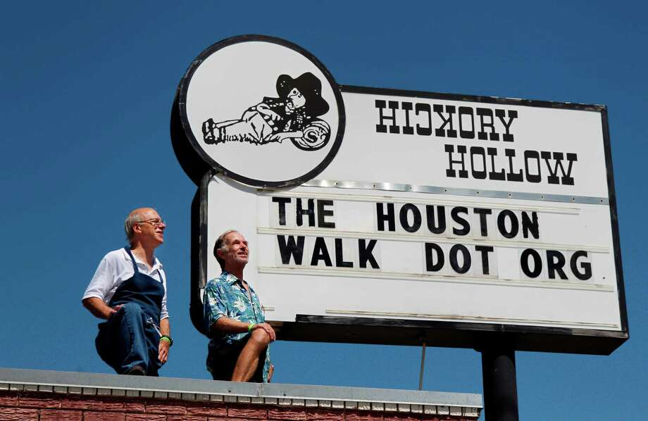 Tony Riedel, left, owner of Hickory Hollow Restaurant, is donating 20 percent of his Monday receipts to the mental health awareness walk created by former employee Patrick McIlvain. Photo: Mayra Beltran / © 2012 Houston Chronicle