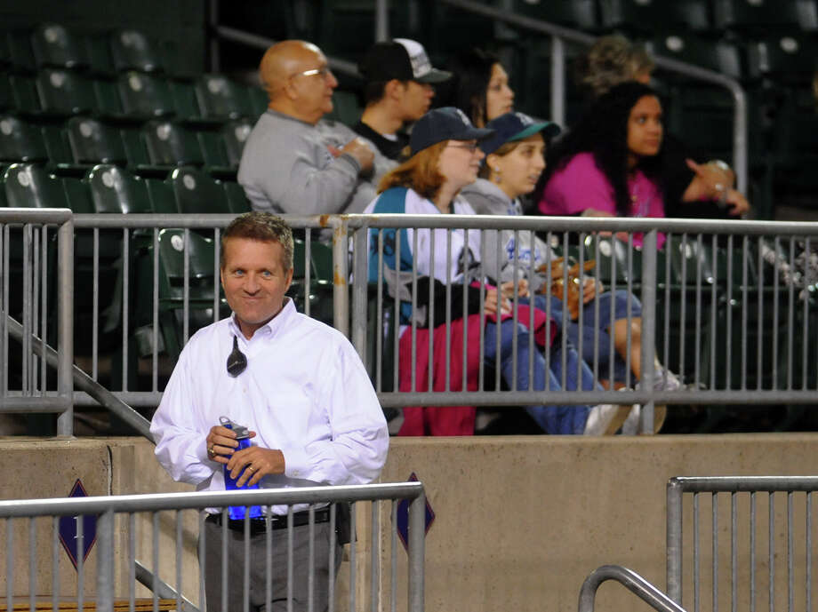 Bluefish baseball's new GM is Ken Shepard greets fans and workers alike during baseball action against Lancaster at the Ball Park at Harbor Yard in Bridgeport, Conn. on Thursday September 20, 2012. Photo: Christian Abraham / Connecticut Post