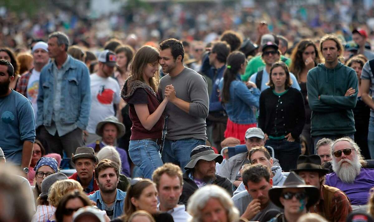 The Hardly Strictly Bluegrass festival, which drew 800,000 music fans to Golden Gate Park last year, is scheduled for the same weekend.