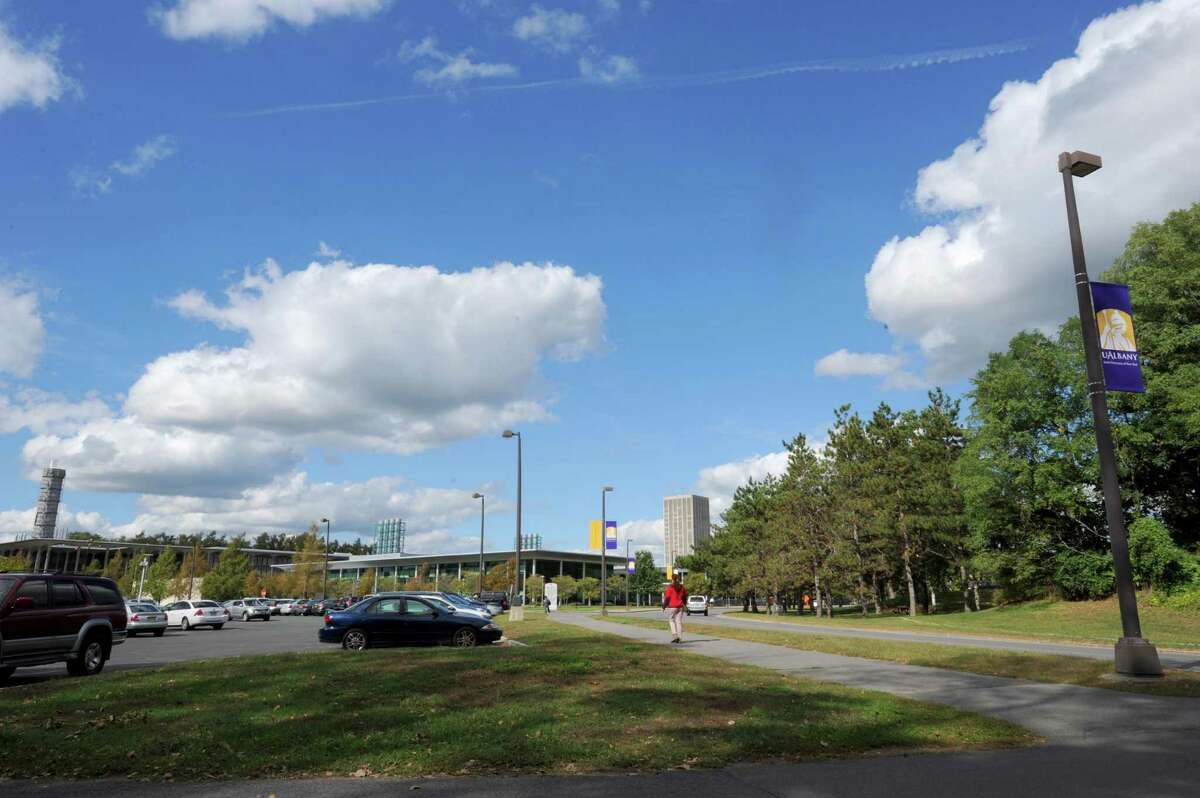 The west side of the University at Albany campus near the Life Science building in Albany , NY Thursday Sept. 20, 2012. (Michael P. Farrell/Times Union)