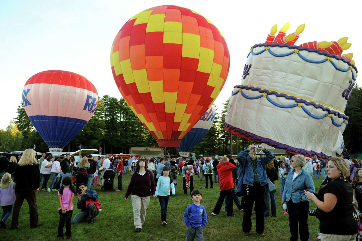 The Adirondack Balloon Festival on Thursday, Sept. 20, 2012, at Crandall Park in Glens Falls, N.Y. The festival continues through the weekend. (Cindy Schultz / Times Union)