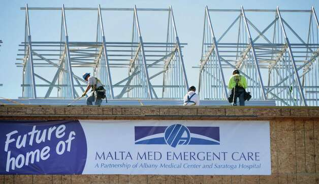 Work continues on the new Malta Med Emergency Care, a joint Albany Medical Center Hospital and Saratoga Hospital $17.5 million emergent care center in Malta Thursday Sept. 20, 2012.   (John Carl D'Annibale / Times Union) Photo: John Carl D'Annibale / 00019351A