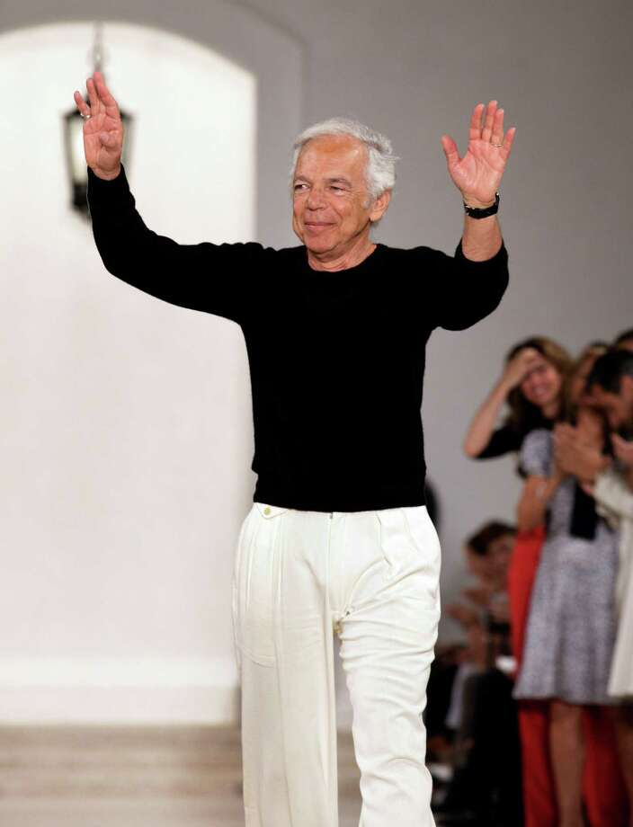 Designer Ralph Lauren acknowledges audience applause after his Spring 2013 collection was modeled during Fashion Week, in New York,  Thursday, Sept. 13, 2012. (AP Photo/Richard Drew) Photo: Richard Drew, DM / AP