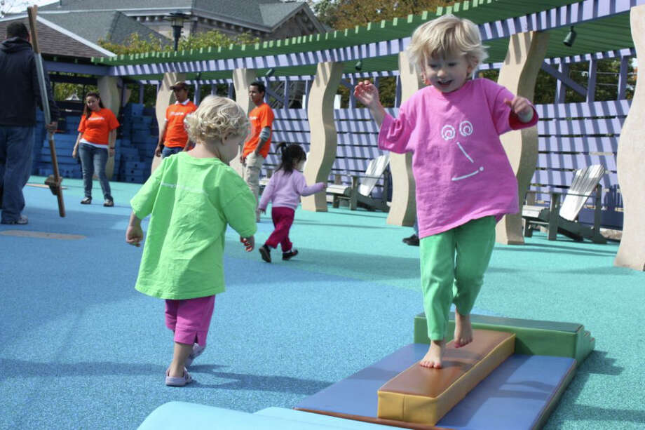 Kids participate in Stepping Stones' fourth Worldwide Day of Play event last year. Photo: Contributed Photo