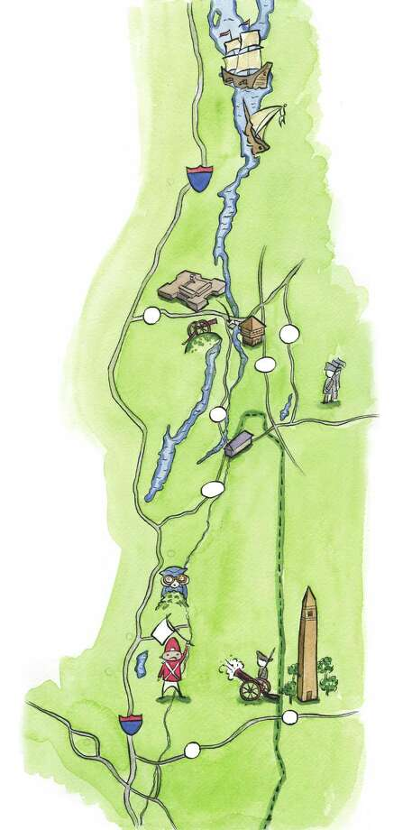 Saratoga area Battle sites. Illustration by Tyswan Stewart/Times Union / Tyswan Stewart/Times Union