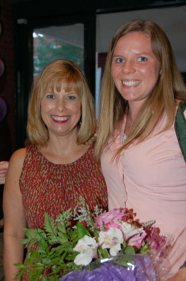 Krista Grimmett, right, was recently awarded a scholarship from Montgomery County Women's Center.