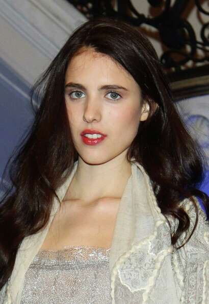 Modeling hopeful Margaret Qualley made her runway debut  at the Philosophy di Alberta Ferretti show