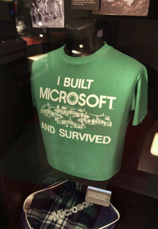 4. Bellevue: 61.2 percent of residents employed, with 32 percent not in the labor force. Pictured above, a T-shirt commemorating Microsoft's corporate headquarters move from Bellevue to Redmond in 1986. Photo: Ron Wurzer, - / 2005 Getty Images