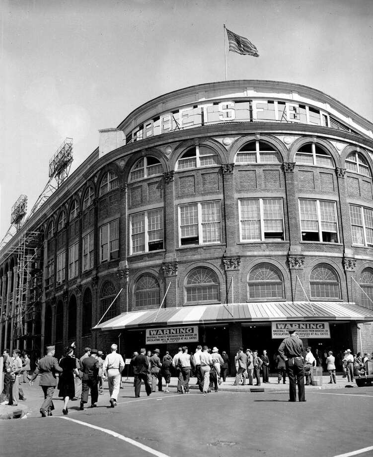FILE - This undated file photo shows the entrance of Ebbets Field Stadium in the Brooklyn borough of New York. It was like a death in the family for Brooklyn baseball fans when their beloved Dodgers left the borough behind for the California coast.  A new chapter in Brooklyn's history begins Friday Sept. 21, 2012  when the Brooklyn Nets new arena will open, just across the street from the spot where the Dodgers owner once tried to build a baseball stadium that never saw the light of day. Photo: AP / AP
