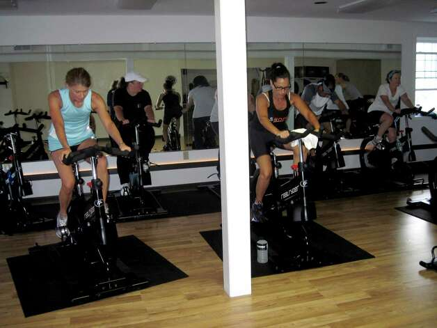 Real Ryder Spin class at Saratoga Core Fitness in Saratoga, NY. (Carin Lane/Times Union)