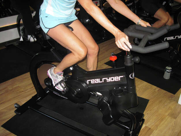 A spinner during the Real Ryder spin class Saratoga Core Fitness in Saratoga, NY.(Carin Lane/Times Union)