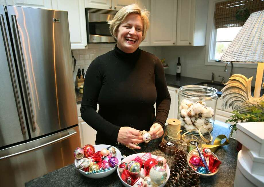 Connie Cusick creates handmade holiday gifts for friends and family at her Fairfield home. Photo: Brian A. Pounds / Connecticut Post
