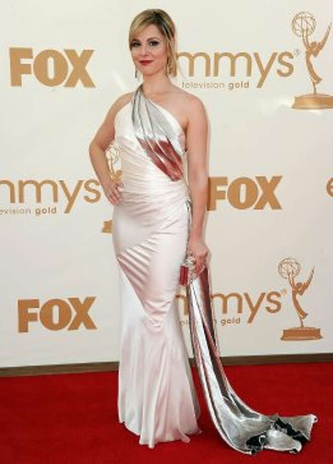 "Cara Buono, 41, at the 2011 Emmys, where she was nominated for an award for ""outstanding guest actress in a drama series."""