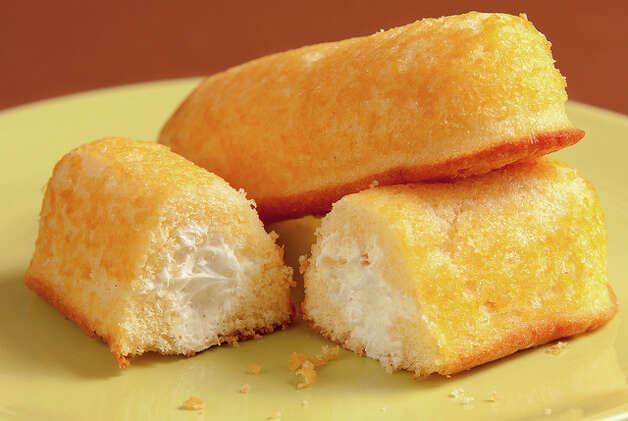 Twinkies debuted in 1930, as a cheap treat during the Depression. The original banana filling changed to vanilla during World War II, when the fruit was rationed. They've since become an American icon. Photo: Christian Cable,  Creative Commons Flickr