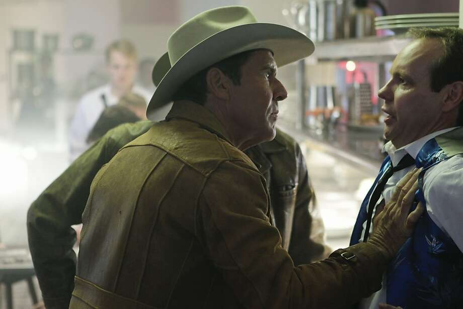 """Money Plays"" -- Sheriff Ralph Lamb (Dennis Quaid) questions a casino worker while investigating the murder of a craps dealer, on VEGAS Tuesday, Oct. 2 (10:00-11:00 PM, ET/PT) on the CBS Television Network. Photo: Cliff Lipson, CBS"