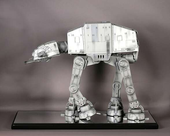 "The show has a replica of an Imperial Walker, the military transport used in ""Star Wars: Episode V - The Empire Strikes Back."" Photo: Courtesy Phil Tippett"