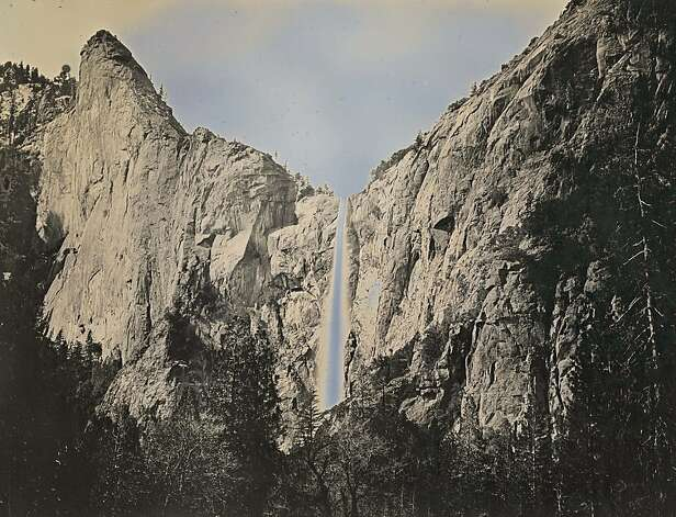 "Binh Danh's daguerreotype of Bridalveil Fall in Yosemite (May 11, 2012) is part of his exhibition, in which, he says, ""you are able to reflect yourself onto this landscape."" Photo: Binh Danh, Haines Gallery"
