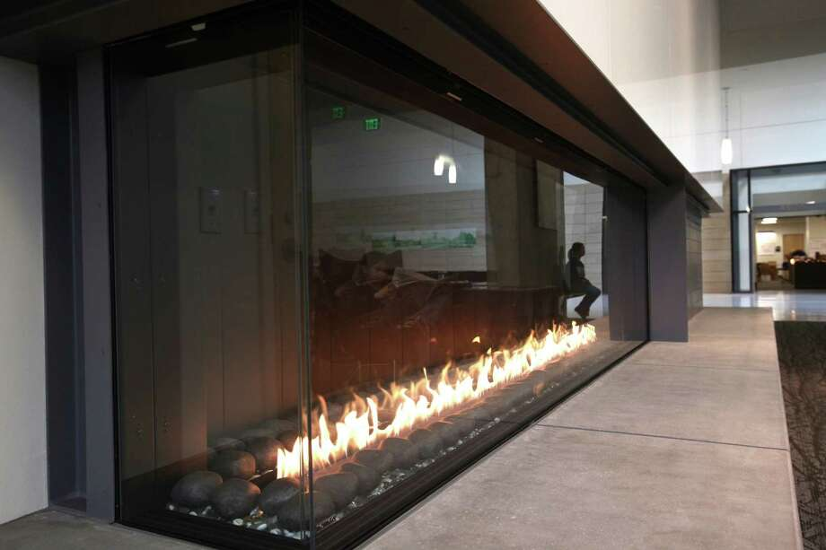 A fire glows in the newly remodeled HUB. Photo: JOSHUA TRUJILLO / SEATTLEPI.COM
