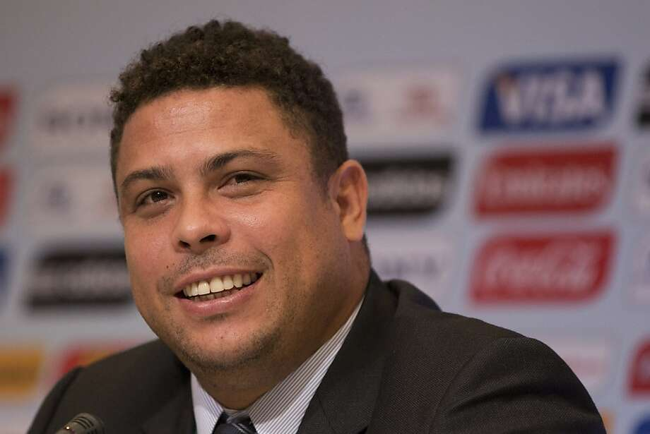 Brazilian former soccer player and member of the local organizing committee for the 2014 World Cup, Ronaldo, smiles during a news conference in Rio de Janeiro, Brazil, Thursday Aug.  30, 2012. (AP Photo/Felipe Dana) Photo: Felipe Dana, Associated Press