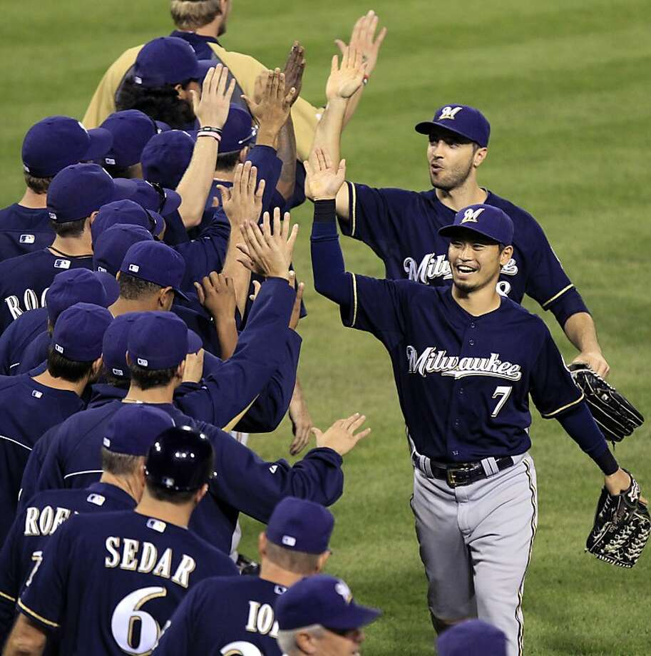 The Brewers are one of several teams still alive because of the addition of a second wild-card team. Photo: Gene J. Puskar, Associated Press
