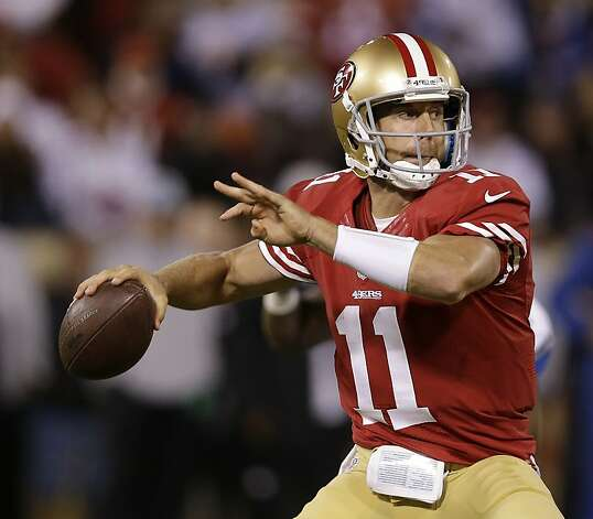 San Francisco 49ers quarterback Alex Smith during the fourth quarter of an NFL football game against the Detroit Lions in San Francisco, Sunday, Sept. 16, 2012. (AP Photo/Marcio Jose Sanchez) Photo: Marcio Jose Sanchez, Associated Press
