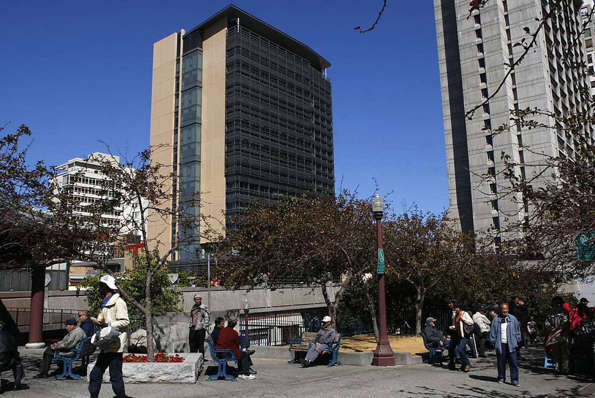 The new 14-story tower of City College of San Francisco seen across from Portsmouth Square in San Francisco, Calif., on Thursday, September 20, 2012.