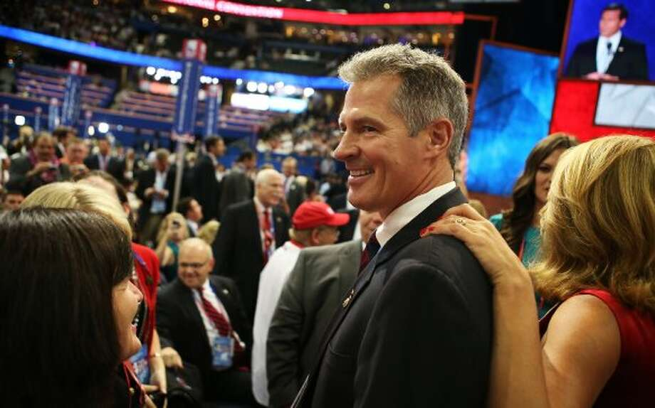 U.S. Sen. Scott Brown (R-MA) attends the final day of the Republican National Convention at the Tampa Bay Times Forum on August 30, 2012 in Tampa, Florida. Former Massachusetts Gov. Mitt Romney was nominated as the Republican presidential candidate during the RNC which will conclude today.  (Chip Somodevilla / Getty Images)