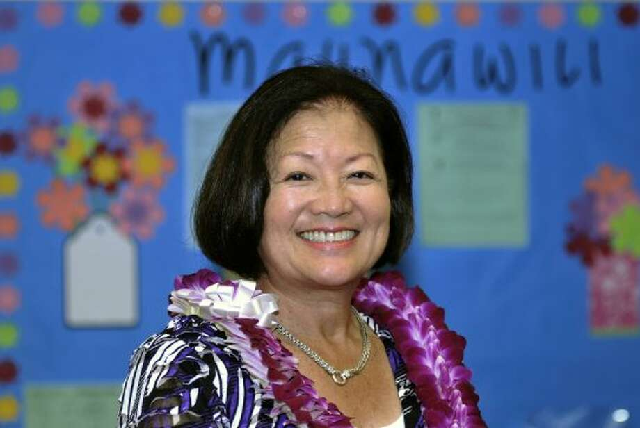 In this Oct. 19, 2010 file photo, Rep. Mazie Hirono, D-Hawaii participates in Meet the Candidates Forum at Maunawili Elementary School in Kailua.  It's a once-in-a-generation occurrence: a competitive U.S. Senate race in Hawaii.  And that's exactly what may be shaping up as two Democrats, Rep. Mazie Hirono and former Rep. Ed Case, square off in a primary Saturday. They're seeking the chance to take on former two-term Hawaii Gov. Linda Lingle in November. No matter which Democrat wins Saturday's primary, they'll face a tough fight from Lingle. The outcome could help determine the balance of power in Washington; Republicans need to gain four seats to take back control of the Senate. (Rebecca Breyer / Associated Press)