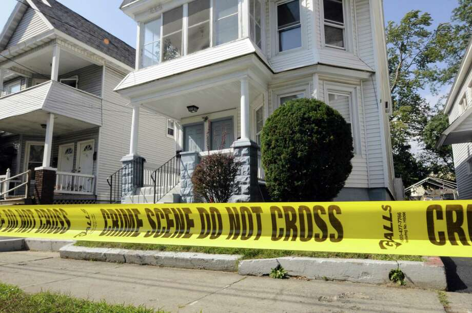 Scene of a stabbing at 65 Elm Street in Schenectady, NY Saturday Sept. 22, 2012. (Michael P. Farrell/Times Union) Photo: Michael P. Farrell