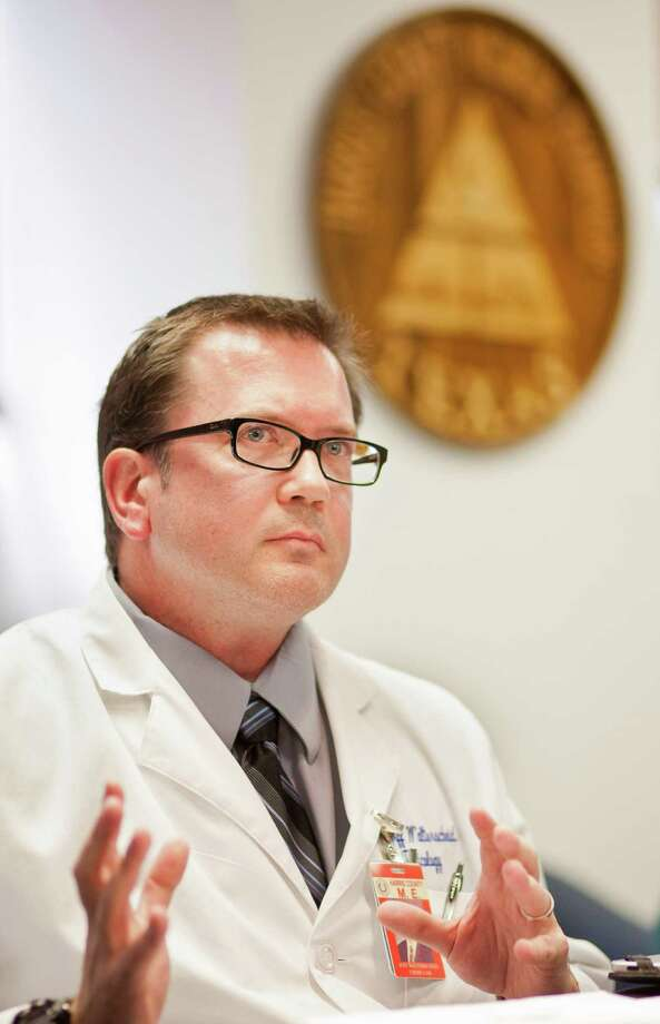 Jeff Walterscheid, assistant chief toxicologist at the Harris County Institute of Forensic Sciences, says the synthetic drug called 25I is a hallucinogenic similar to LSD and ecstasy. Photo: Nick De La Torre / © 2012 Houston Chronicle