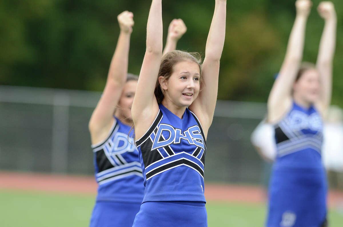 Darien High School hosts Fairfield Warde High School in varsity football in Darien, CT on Sept. 22, 2012.