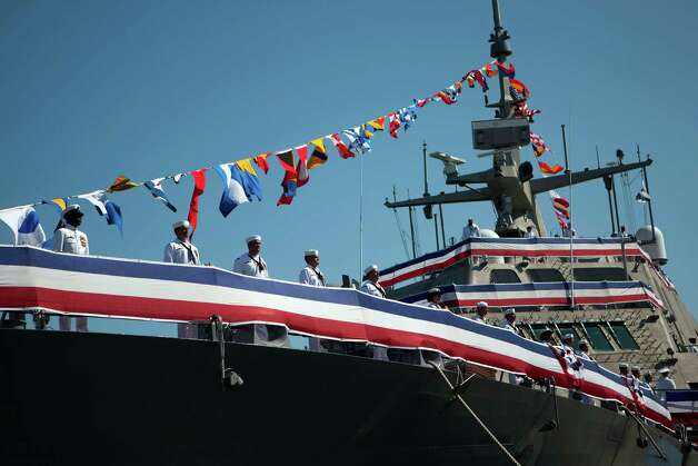 The USS Fort Worth, sister ship to Freedom, was commissioned on Sept. 22, 2012, in Galveston, Texas. Photo: Johnny Hanson, Houston Chronicle / © 2012  Houston Chronicle