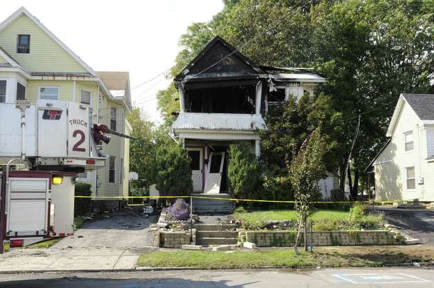 Scene of a fatal fire at 1082 Helderberg Avenue in Schenectady, NY Saturday Sept. 22, 2012. (Michael P. Farrell/Times Union) Photo: Michael P. Farrell