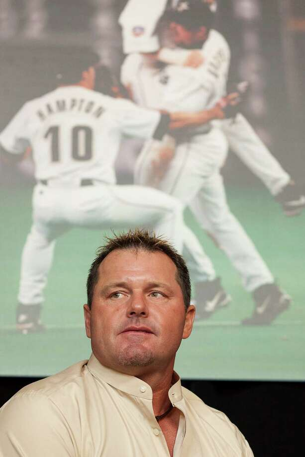 Roger Clemens listens to questions from the audience during the luncheon. Photo: Nathan Lindstrom / ©2012 Nathan Lindstrom