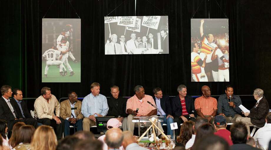 Many notable former players in Astros history were in attendance. Photo: Nathan Lindstrom / ©2012 Nathan Lindstrom
