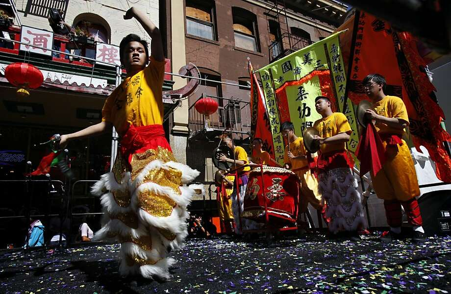 Members of Yau Kung Moon Kung Fu perform at the 22nd Autumn Moon Festival in San Francisco's Chinatown. Photo: Sarah Rice, Special To The Chronicle