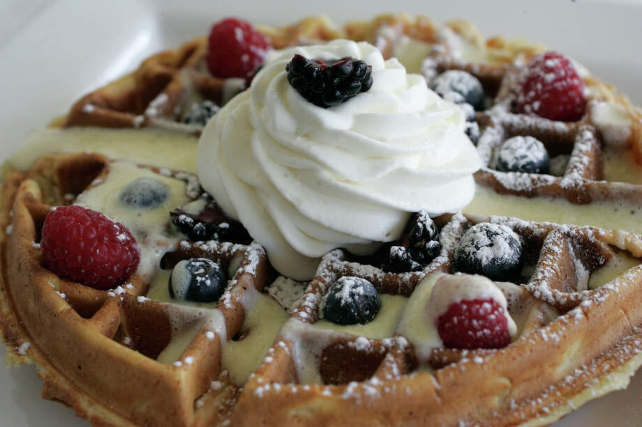 A waffle gets the Belgian treatment at La Frite, 728 S. Alamo. Photo: J. MICHAEL SHORT, E-N Archive / THE SAN ANTONIO EXPRESS-NEWS