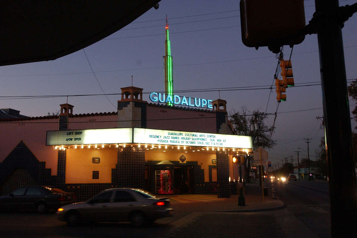 Two things have never changed about the Guadalupe Theater: its colorful, tiled facade and the building's role as the cultural anchor of its namesake street. Nov. 24, 2003.