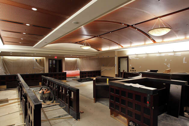 New criminal courtrooms are nearing completion as Bexar County Courthouse renovations continue on September 21, 2012. Photo: Tom Reel, San Antonio Express-News / ©2012 San Antono Express-News