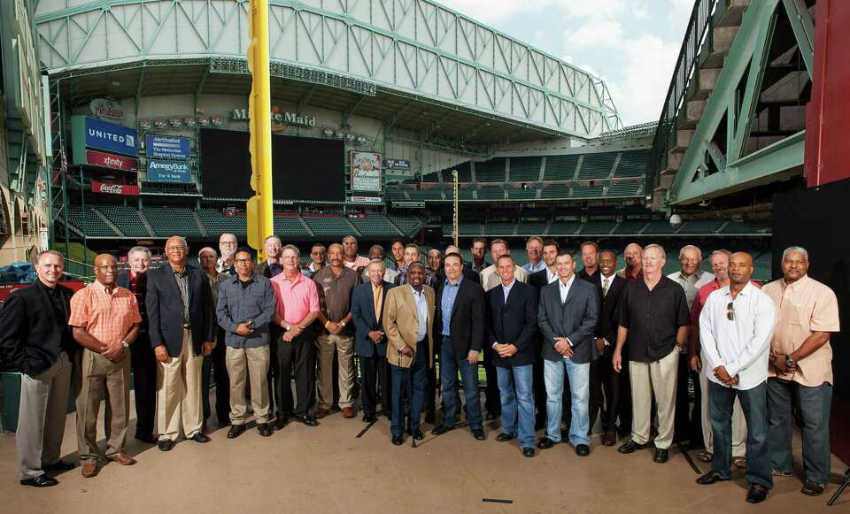 Many of the top former players in Astros history attend the Astros Legends Luncheon, held Saturday n